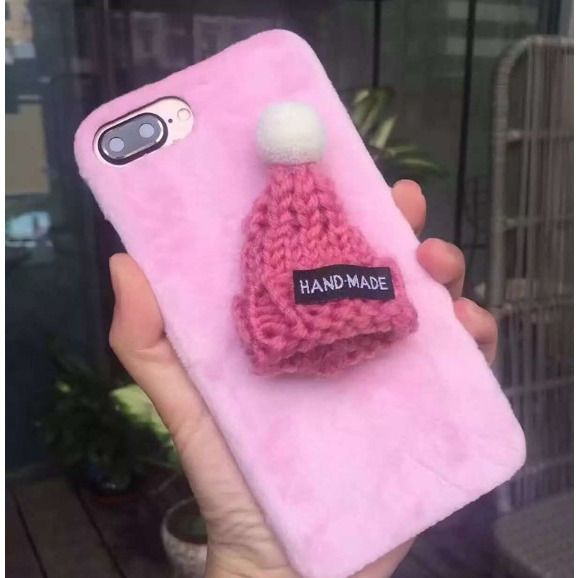 Fur Knitted Winter Hat Iphone Case - Sweety Cats Boutique - 7