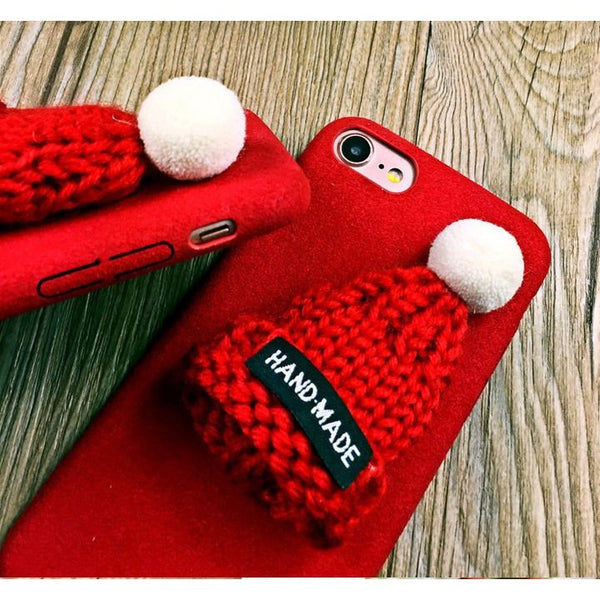 Fur Knitted Winter Hat Iphone Case - Sweety Cats Boutique - 5