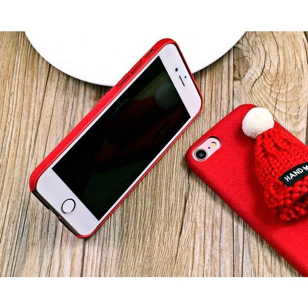 Fur Knitted Winter Hat Iphone Case - Sweety Cats Boutique - 6