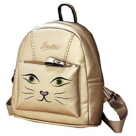 Gold Cat Backpack - Sweety Cats Boutique - 1