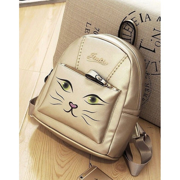 Gold Cat Backpack - Sweety Cats Boutique - 2