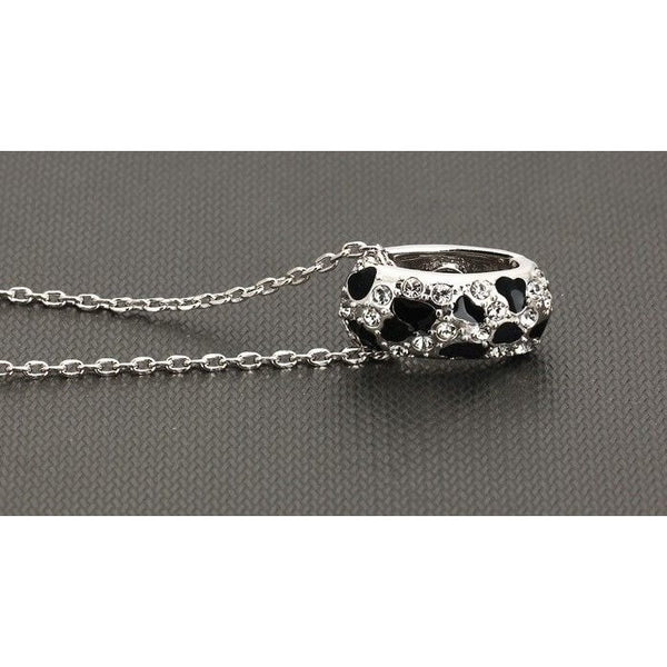 Fashion Leopard Crystal Necklace - Sweety Cats Boutique - 3