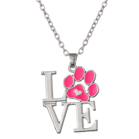Cat Paw Love Neckace - Sweety Cats Boutique - 1