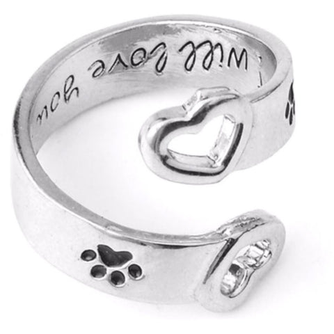 I will love you forever Cat Paw Ring - Sweety Cats Boutique - 1