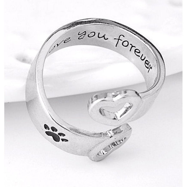 I will love you forever Cat Paw Ring - Sweety Cats Boutique - 2