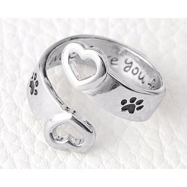 I will love you forever Cat Paw Ring - Sweety Cats Boutique - 3
