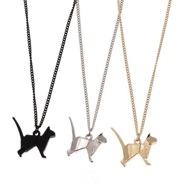Origami Cat Necklace - Sweety Cats Boutique - 1
