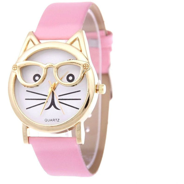 Cute Glasses Cat Watch - Sweety Cats Boutique - 1
