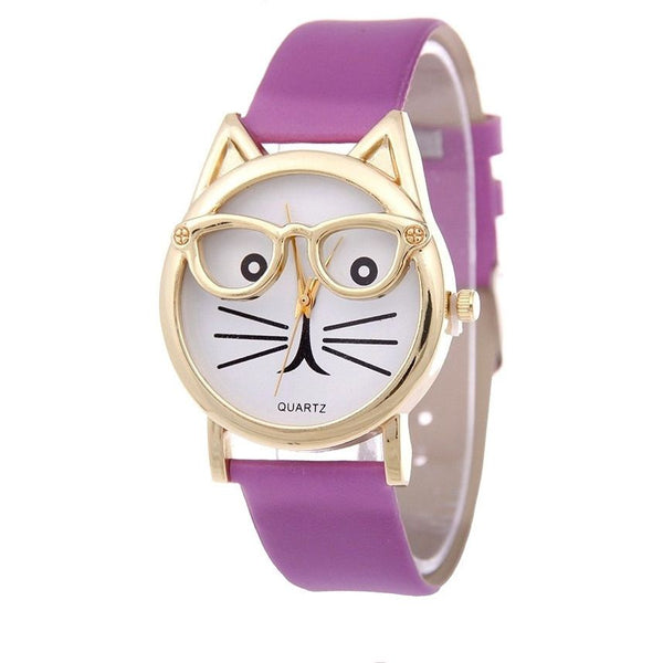 Cute Glasses Cat Watch - Sweety Cats Boutique - 2