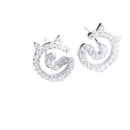 Cat sparkle Earrings - Sweety Cats Boutique - 2
