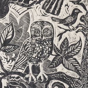 Mark Hearld owl textile fabric quilt wall hanging