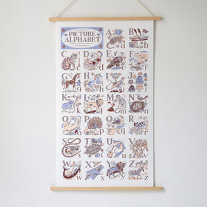 alphabet print emily sutton abc screen print art