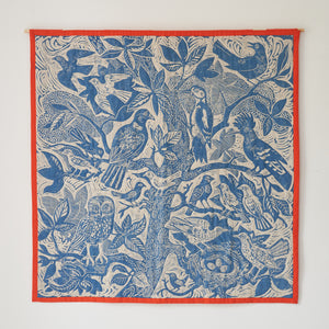 Mark Hearld fabric textile wall hanging baby quilt Sessions & Co.  bird tree print
