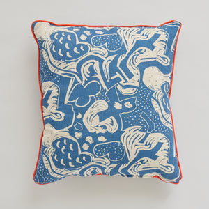 Woodpecker and Hoopoe Cushion by Mark Hearld