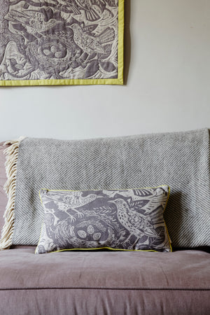 Thrush Nest Cushion by Mark Hearld