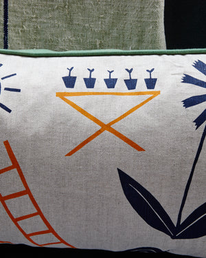 Tend the Land Bolster Cushions by Caitlin Hinshelwood