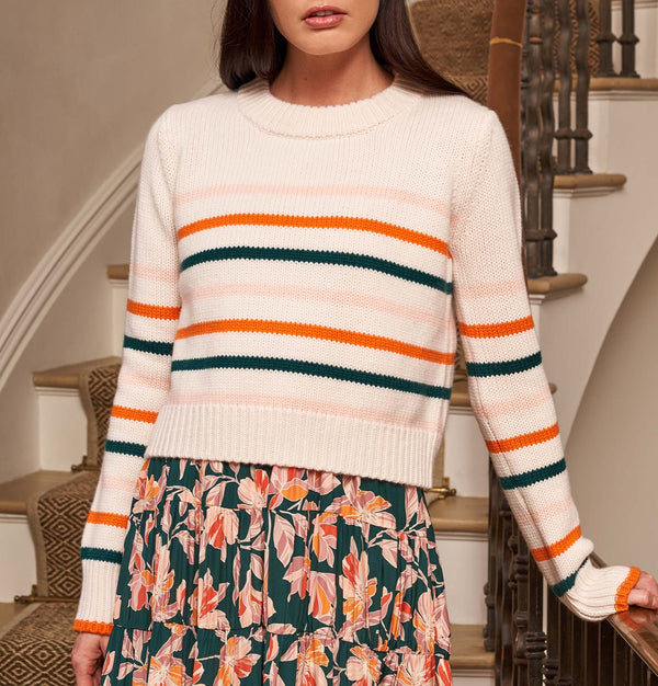 La Ligne Mini Marin Sweater - Pink, Orange, Green @ Hero Shop SF
