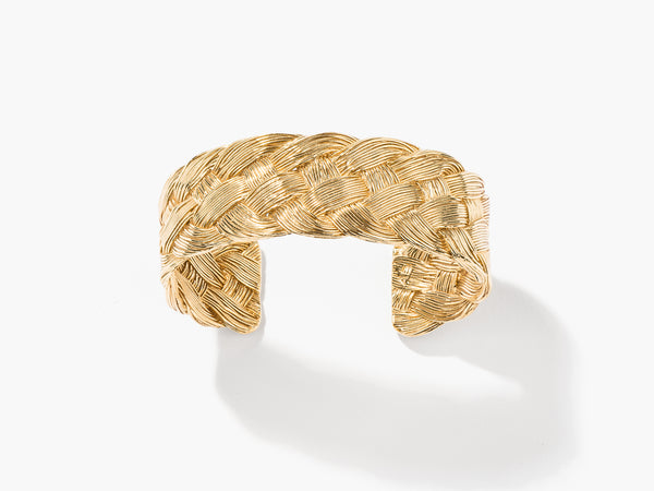 Aurelie Bidermann Braided Brass Cuff