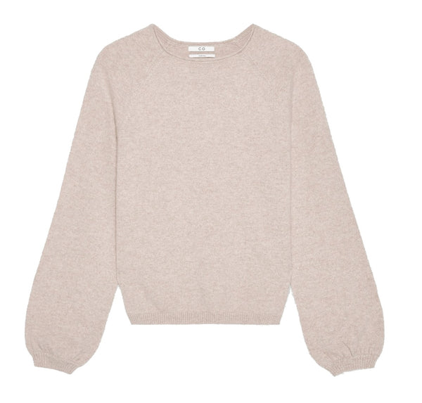 Co. Collection Raglan Peasant Sleeve Sweater - Sand Melange @ Hero Shop