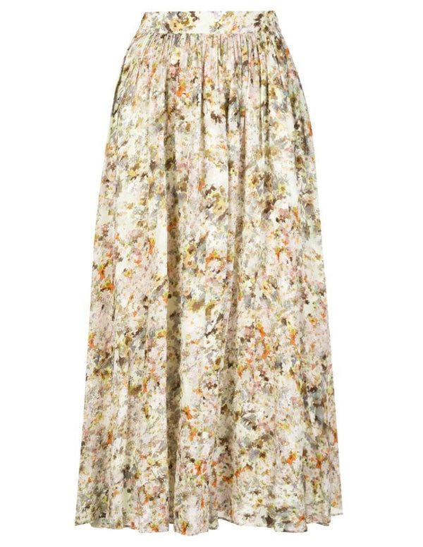 Co. Flare Skirt - Floral Jacquard