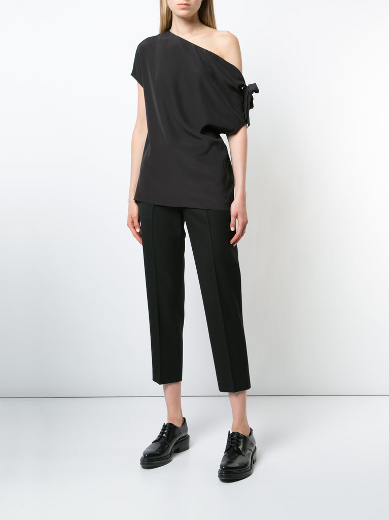 Silk Asymmetric Tie Top