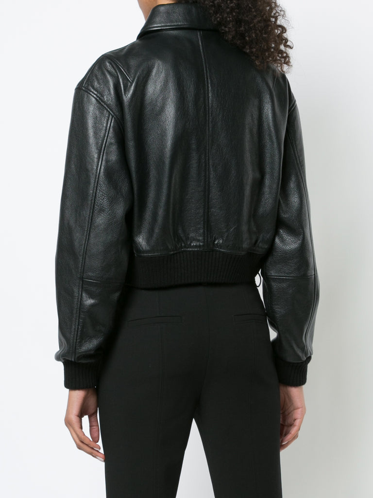 Leather Gus Cropped Jacket