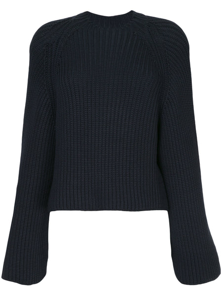 Cropped Back Pullover