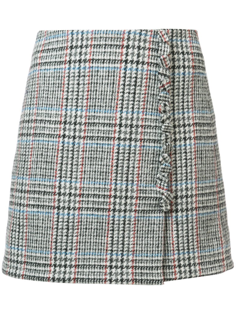 Scottish Tweed Mini Wrap Skirt