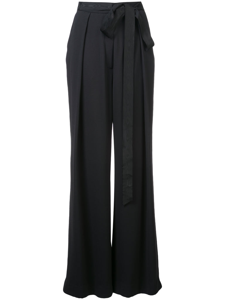 Stretch Crepe Trouser w Inverted Pleats
