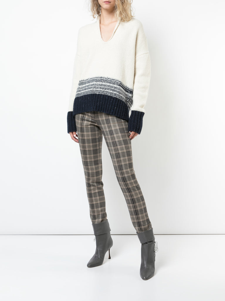 Marled Wool Cashmere Knit