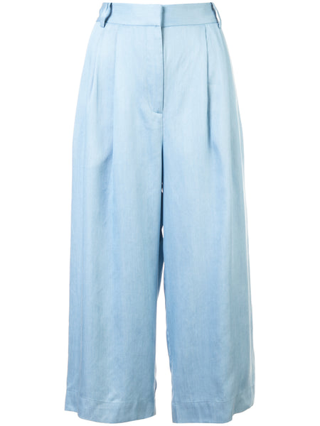 Cropped Pleat Pants