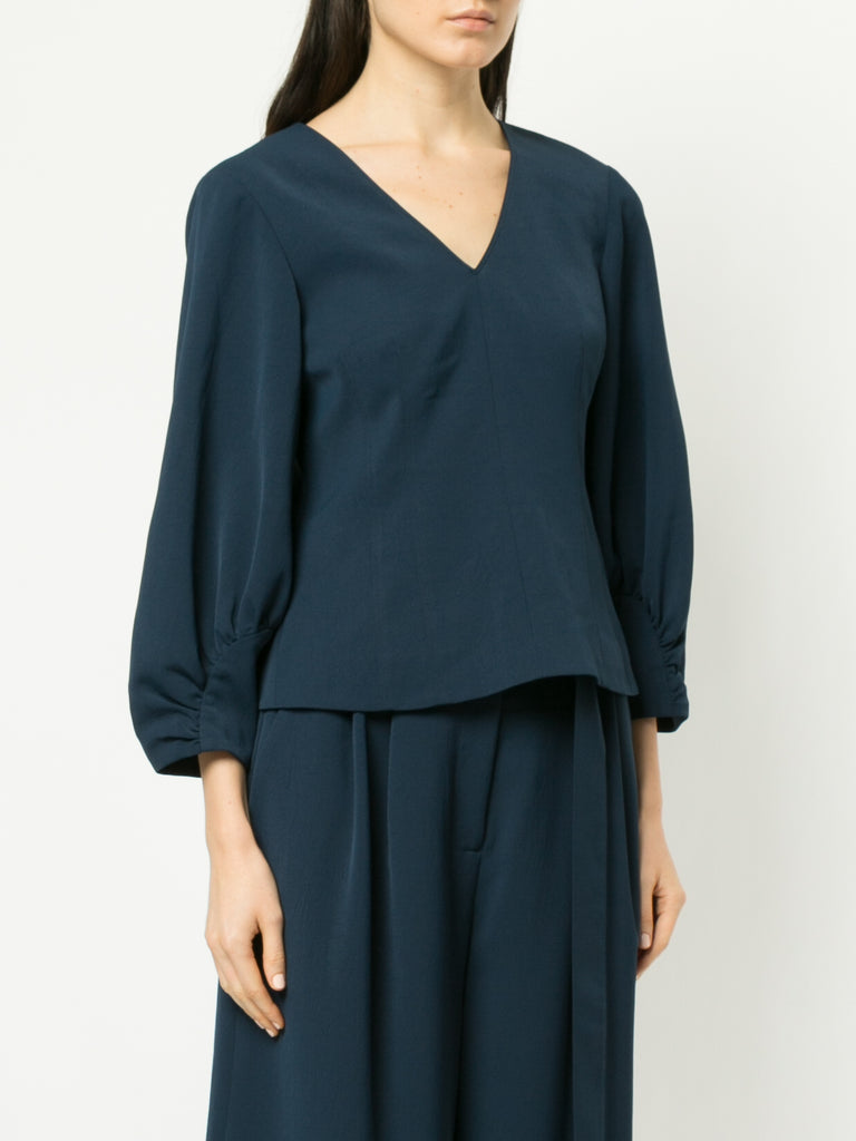 Tibi Corset V-Neck Top