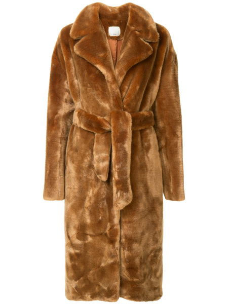 Luxe Faux Fur Oversized Trench
