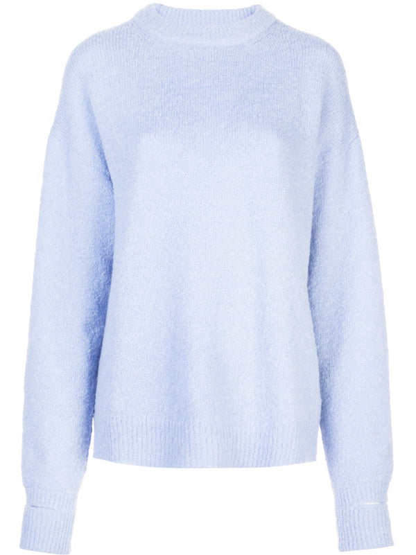 Tibi Crewneck Pullover with Cuffs