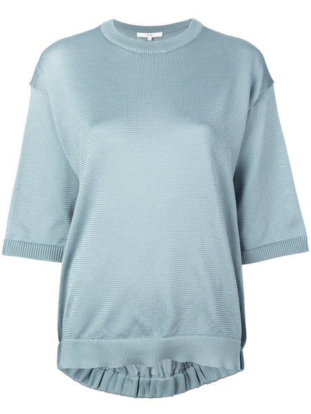 Tibi Poly Sweater T-Shirt Pullover
