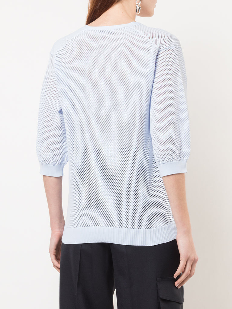 Tibi Poly Tech V Neck