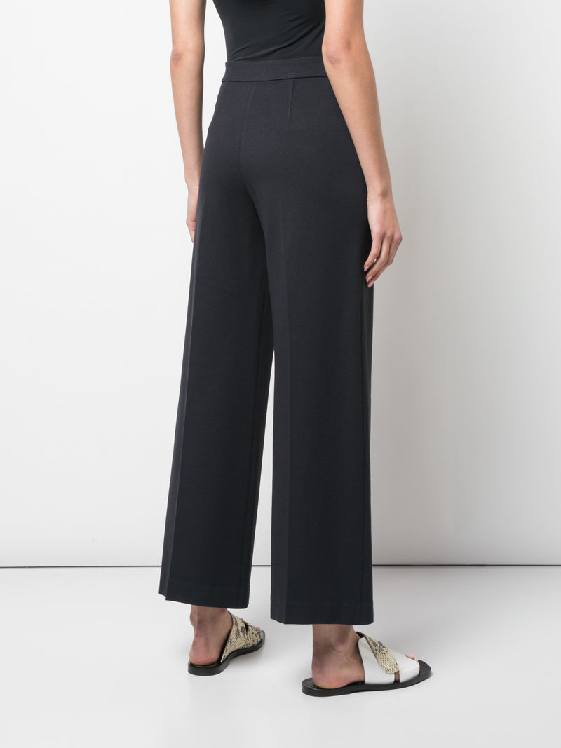 Rosetta Getty Pull On Straight Trousers - Navy @ Hero Shop SF