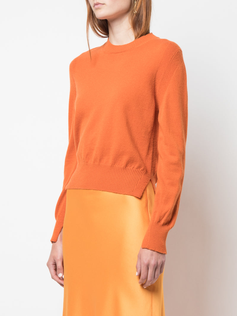 Rosetta Getty Cropped Slit Pullover