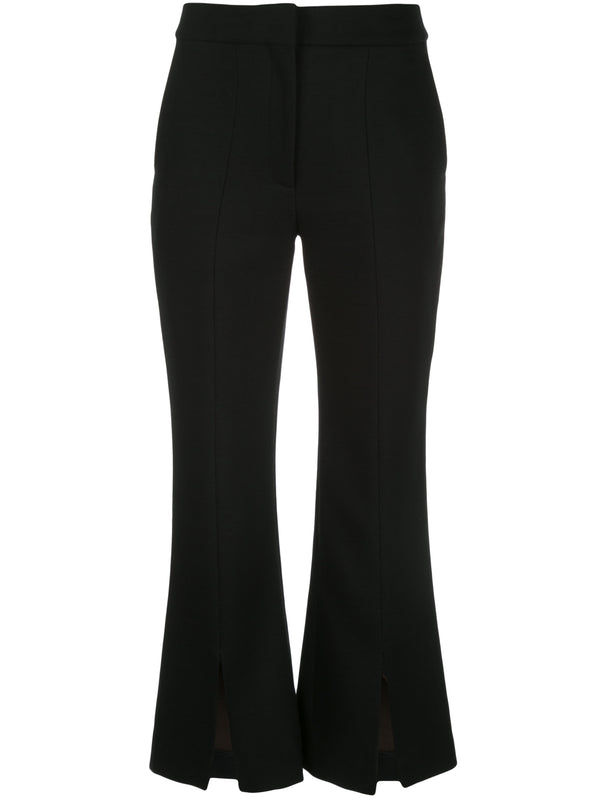 Adam Lippes Crop Flare Pant w Slit