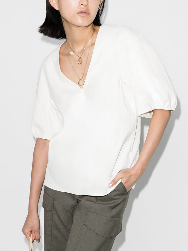 Tibi Chalky Drape V-Neck Top @ Hero Shop SF