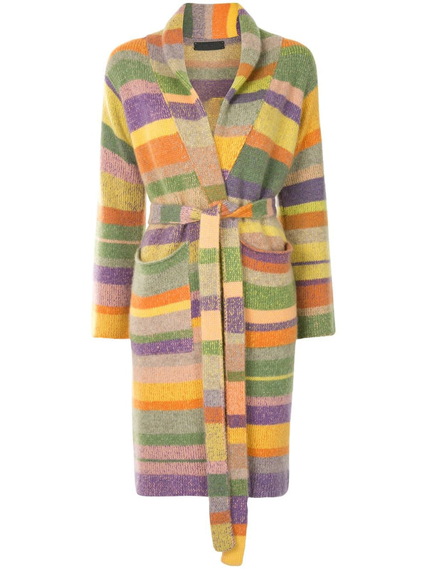 The Elder Statesman Super Soft Robe - Peach / Grass @ Hero Shop SF
