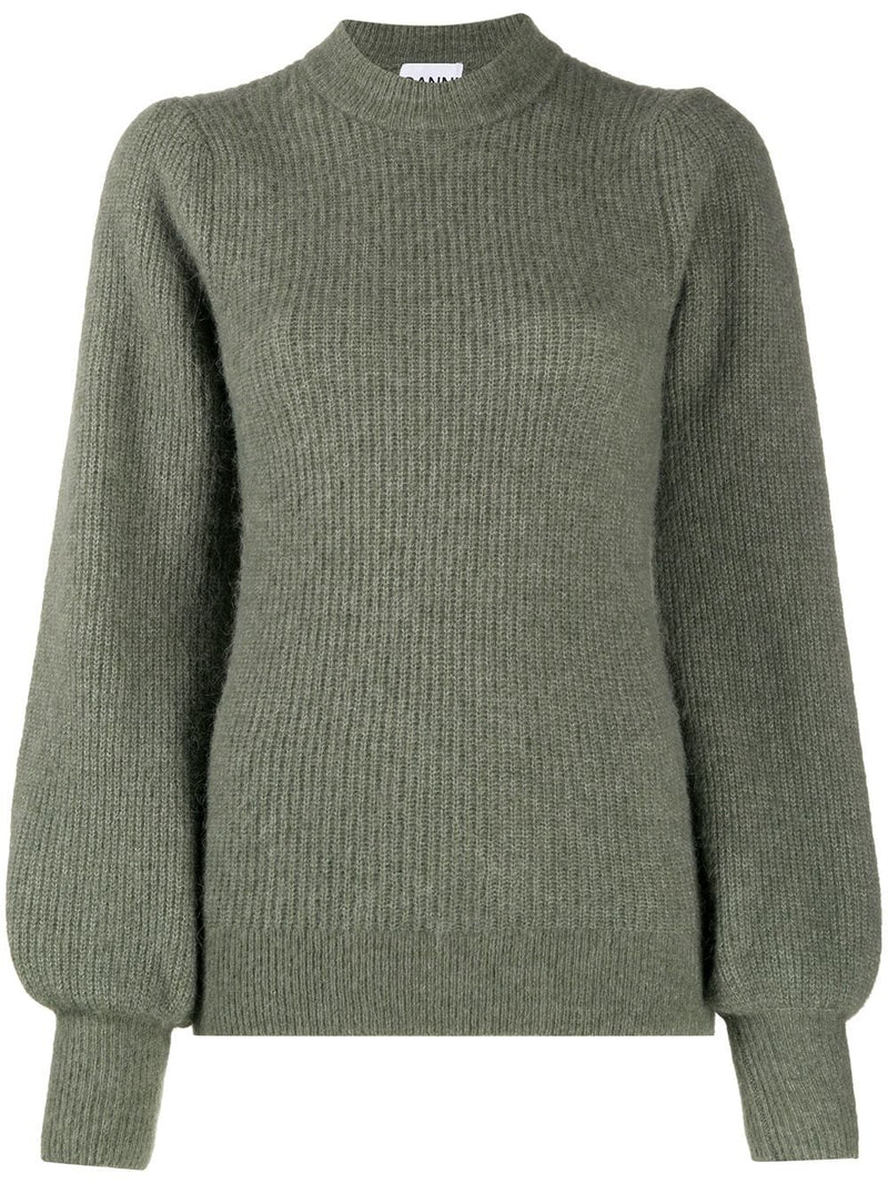 Ganni Soft Wool Knit Crewneck - Kalamata @ Hero Shop