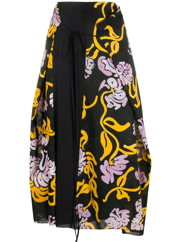 Marni Cotton Wrap Skirt - Black @ Hero Shop