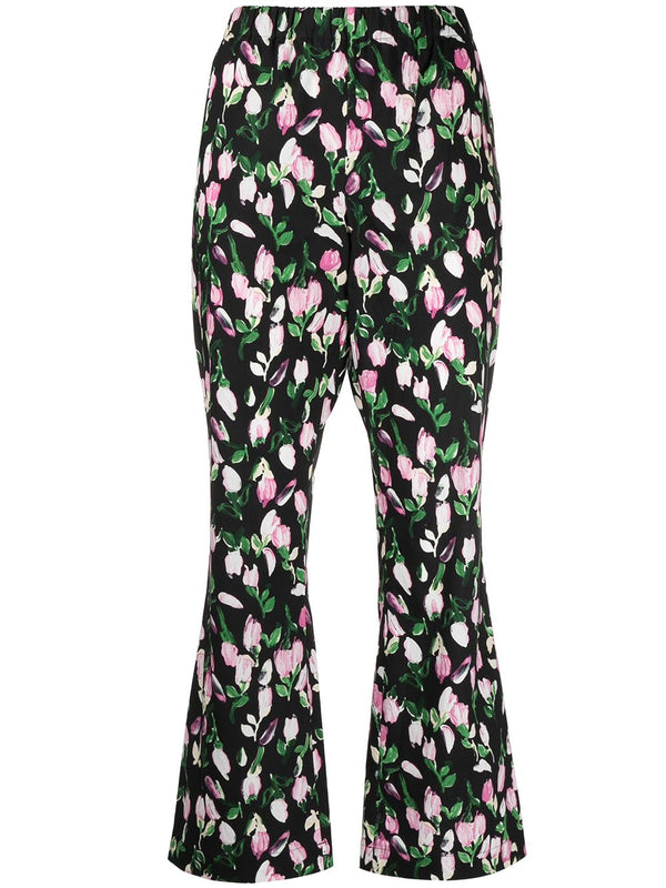 Marni Cotton Crop Flare Pant @ Hero Shop