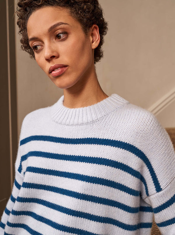 La Ligne Marin Sweater - Periwinkle / Petrol @ Hero Shop SF