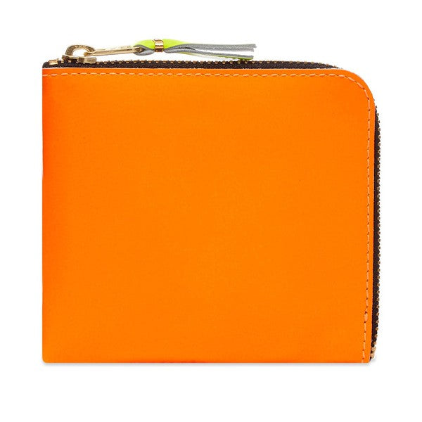 Comme Des Garcons Super Fluo Half Zip Wallet - Orange & Pink @ Hero Shop