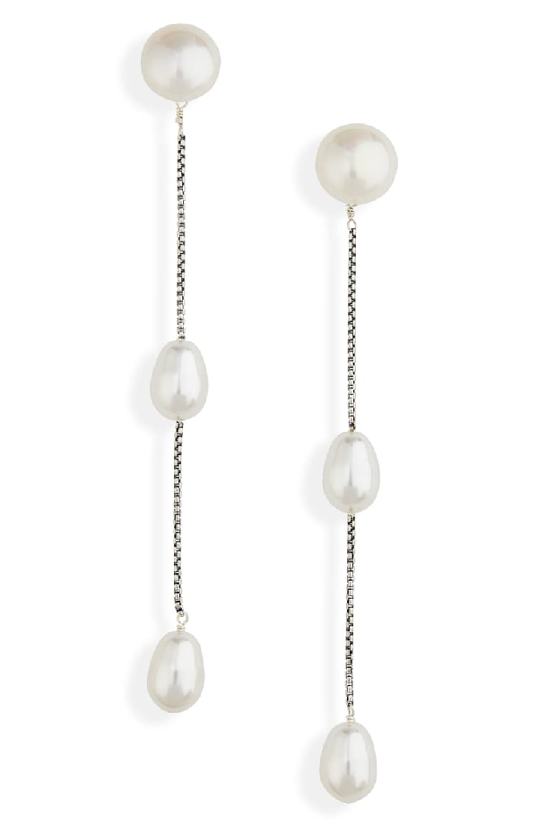 Sophie Buhai Small Pearl Drop Earrings @ Hero Shop