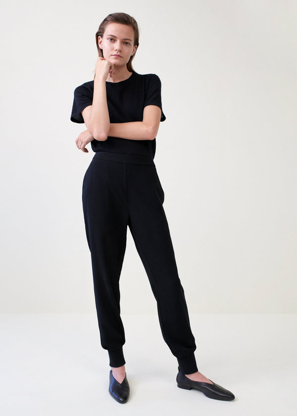Co. Stretch Crepe Jogger Pant - Black @ Hero Shop