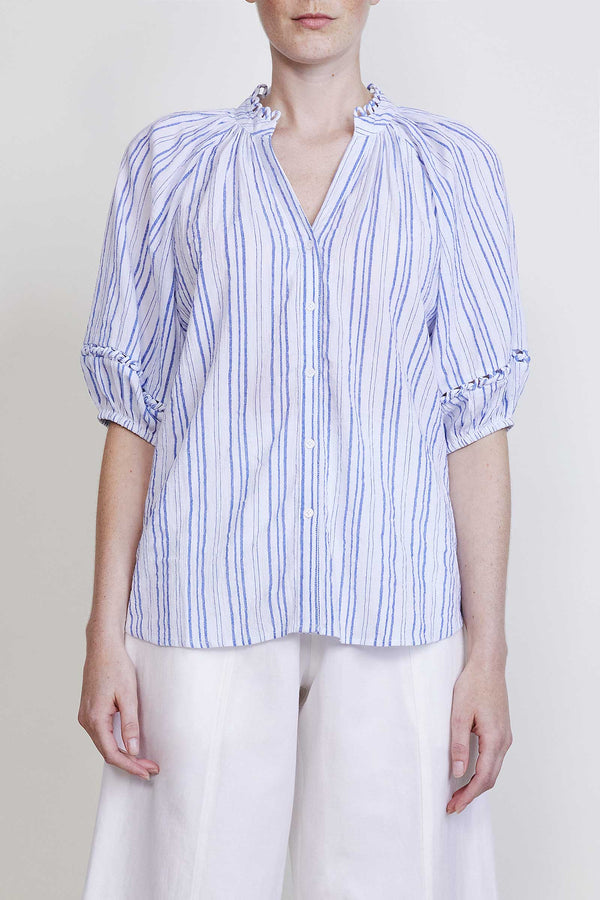 Apiece Apart Mitte Top - Blue Stripe @ Hero Shop
