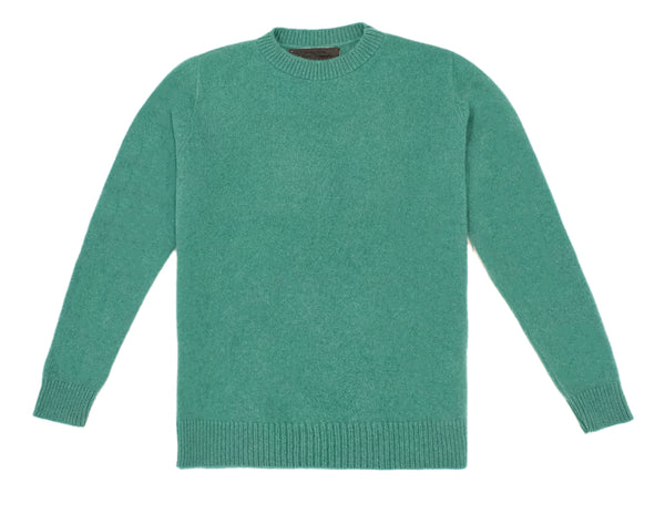 The Elder Statesman Simple Crew - Turquoise @ Hero Shop